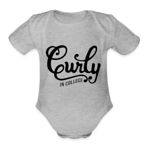 CurlyInCollege - Organic Short Sleeve Baby Bodysuit