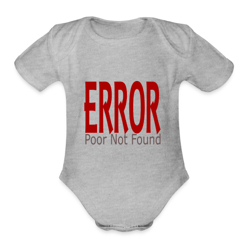Oops There Is Something Missing! - Organic Short Sleeve Baby Bodysuit