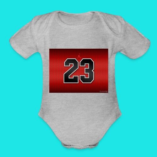 Jordan_Bulls_Jersey - Organic Short Sleeve Baby Bodysuit