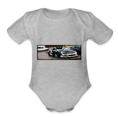 Slap Sticker glitch - Organic Short Sleeve Baby Bodysuit