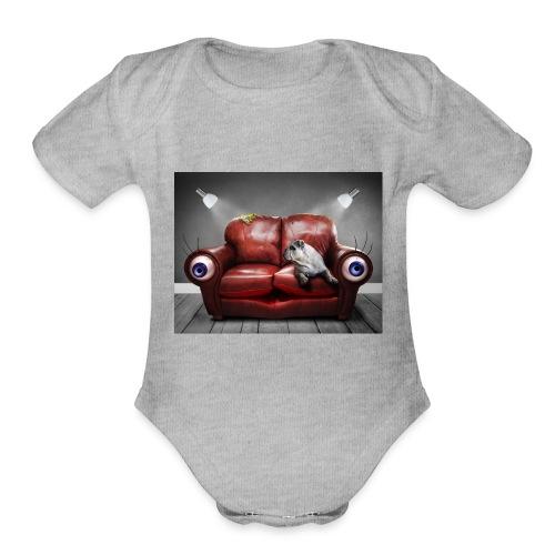 sofá - Organic Short Sleeve Baby Bodysuit