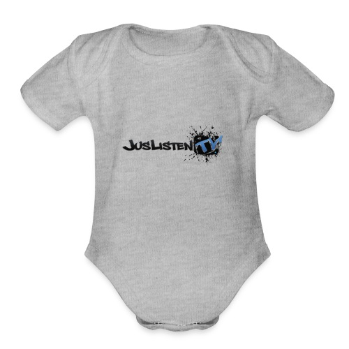 Jltv Logo - Organic Short Sleeve Baby Bodysuit
