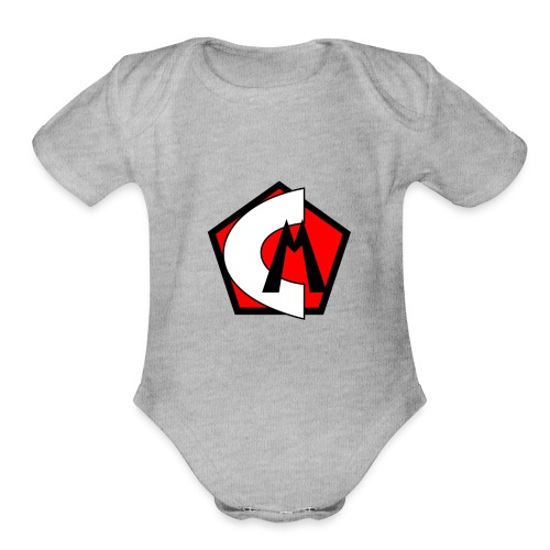 Captain Marvelous Logo - Organic Short Sleeve Baby Bodysuit