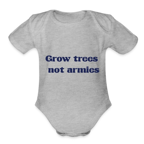 Grow trees - Organic Short Sleeve Baby Bodysuit