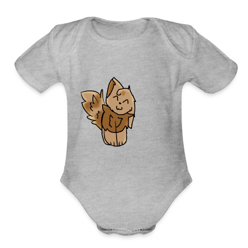 noth light fire... - Organic Short Sleeve Baby Bodysuit