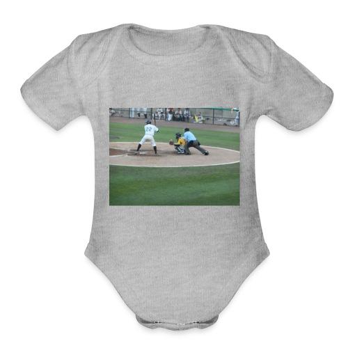 Atlantic League Long Island Ducks Pitch - Organic Short Sleeve Baby Bodysuit