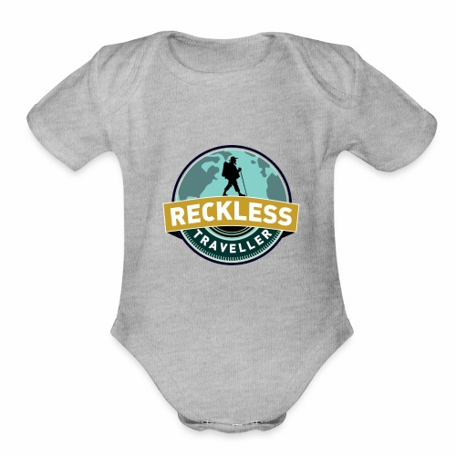Reckless Traveller - Organic Short Sleeve Baby Bodysuit