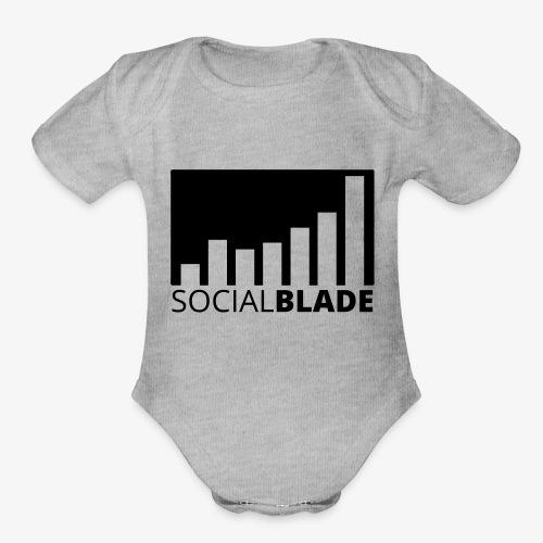 SB Blackout Logo - Organic Short Sleeve Baby Bodysuit
