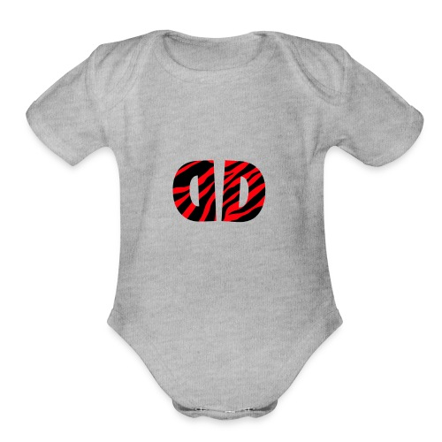 Dusk official logo merch!! - Organic Short Sleeve Baby Bodysuit