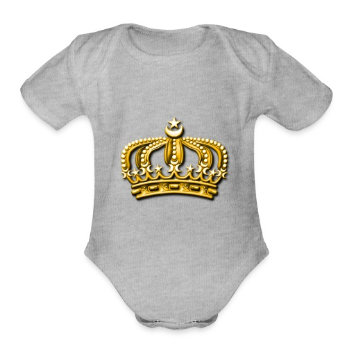 Gold crown - Organic Short Sleeve Baby Bodysuit