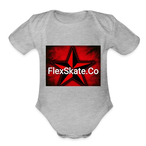 FlexSkate.Co Logo #3 - Organic Short Sleeve Baby Bodysuit
