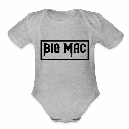 Big Mac Logo - Organic Short Sleeve Baby Bodysuit