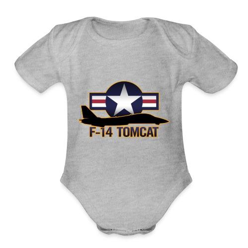 F-14 Tomcat - Organic Short Sleeve Baby Bodysuit