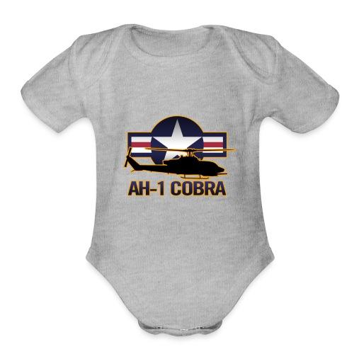 AH-1 Cobra Helicopter - Organic Short Sleeve Baby Bodysuit