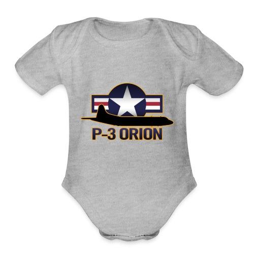 P-3 Orion - Organic Short Sleeve Baby Bodysuit