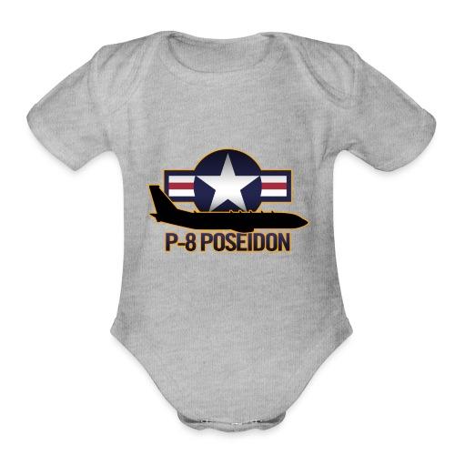 P-8 Poseidon - Organic Short Sleeve Baby Bodysuit