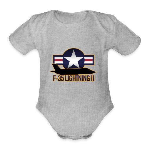 F-35 Lightning II - Organic Short Sleeve Baby Bodysuit