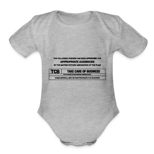 TCB Films Disclamer - Organic Short Sleeve Baby Bodysuit