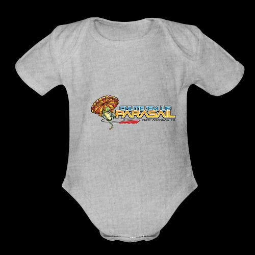 Chute 'Em Up Gear - Organic Short Sleeve Baby Bodysuit