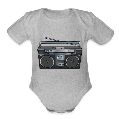 Boombox - Organic Short Sleeve Baby Bodysuit