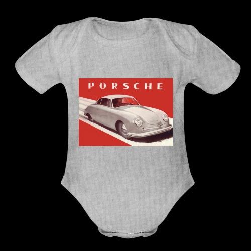 356 old car design - Organic Short Sleeve Baby Bodysuit