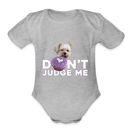 Popeye Don't Judge - Organic Short Sleeve Baby Bodysuit