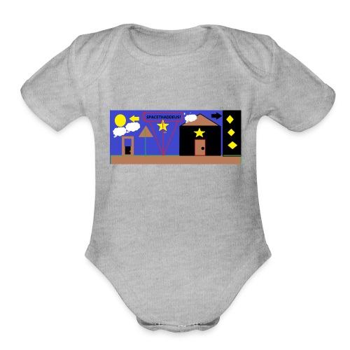 Team Space Thaddeus - Organic Short Sleeve Baby Bodysuit