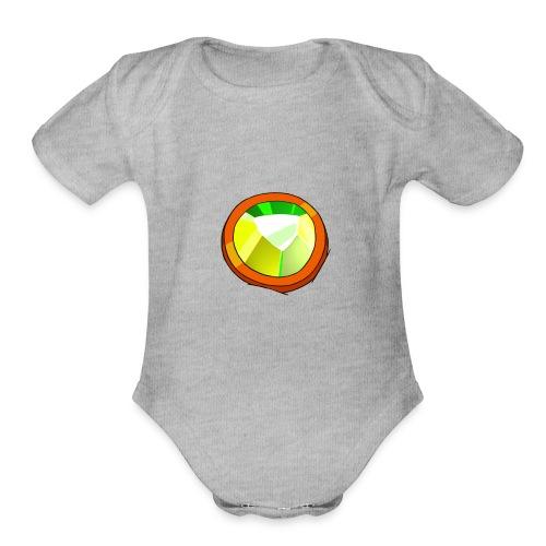 Life Crystal - Organic Short Sleeve Baby Bodysuit