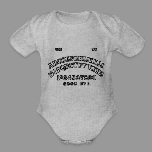 Talking Board - Organic Short Sleeve Baby Bodysuit