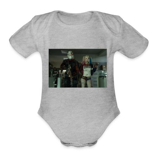 bg 10 - Organic Short Sleeve Baby Bodysuit