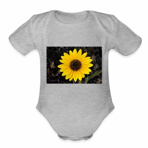 sunflower - Organic Short Sleeve Baby Bodysuit