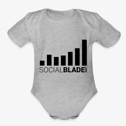 Socialblade (Dark) - Organic Short Sleeve Baby Bodysuit