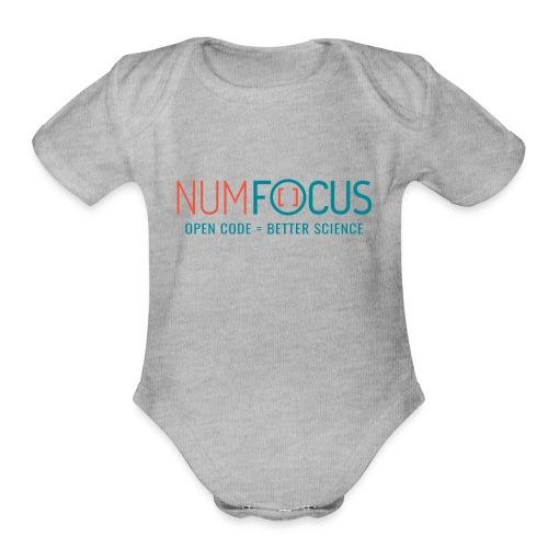 NumFOCUS Official Logo - Organic Short Sleeve Baby Bodysuit