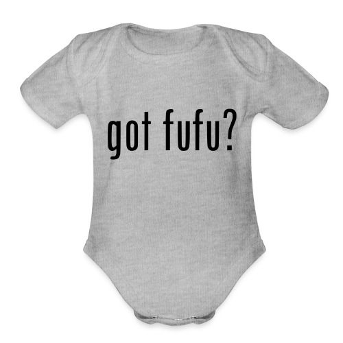 gotfufu-black - Organic Short Sleeve Baby Bodysuit
