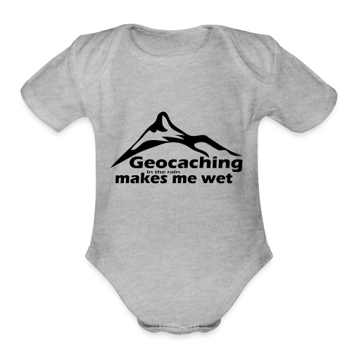 Wet Geocaching - Organic Short Sleeve Baby Bodysuit
