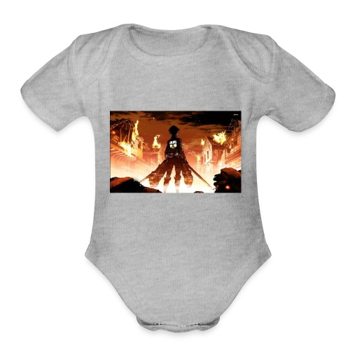Attack of the titan - Organic Short Sleeve Baby Bodysuit