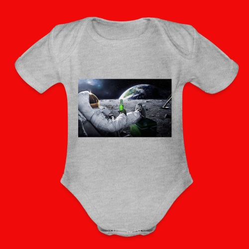 Space Man - Organic Short Sleeve Baby Bodysuit