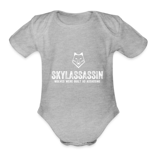 White Logo - Organic Short Sleeve Baby Bodysuit