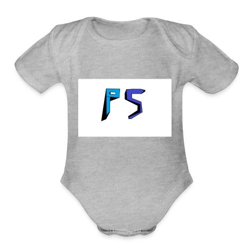PuggyShortz Logo - Organic Short Sleeve Baby Bodysuit