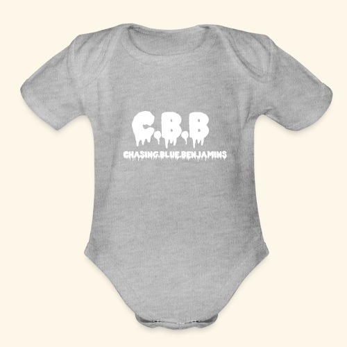 Chasing Blue Benjis - Organic Short Sleeve Baby Bodysuit
