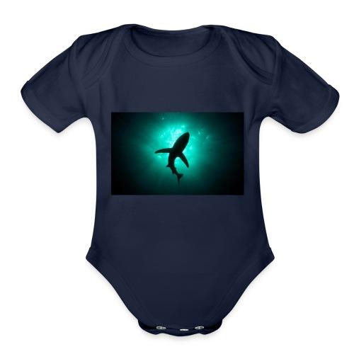 Shark in the abbis - Organic Short Sleeve Baby Bodysuit