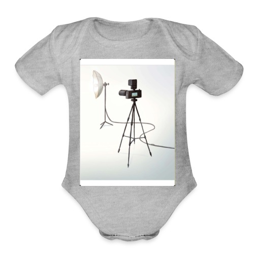 Camera 🎥 - Organic Short Sleeve Baby Bodysuit