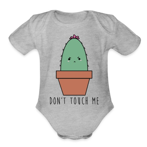 Don't Touch Me 2.0 - Organic Short Sleeve Baby Bodysuit