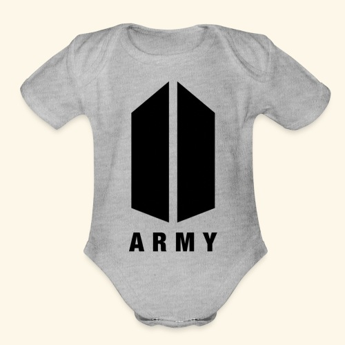 BTS ARMY MERCH - Organic Short Sleeve Baby Bodysuit