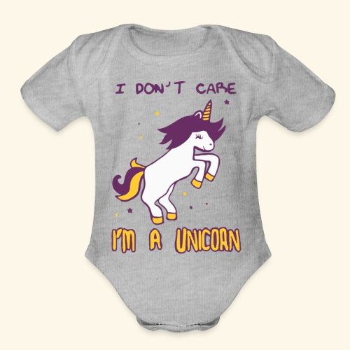 Limited Edition : T-Shirt I'M A UNICORN - Organic Short Sleeve Baby Bodysuit