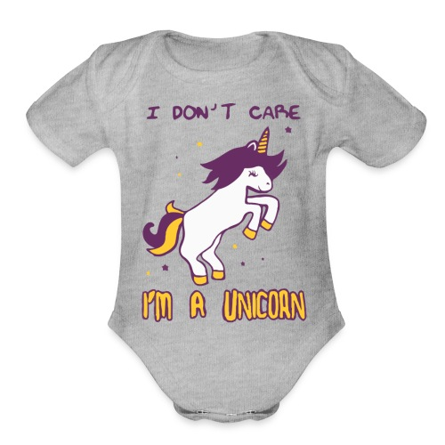 Limited Edition : T-Shirt I'M A UNICORN - Organic Short Sleeve Baby Bodysuit