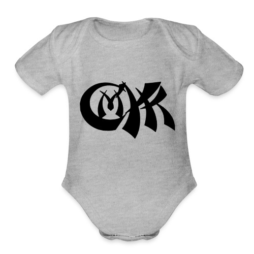 cmyk - Organic Short Sleeve Baby Bodysuit