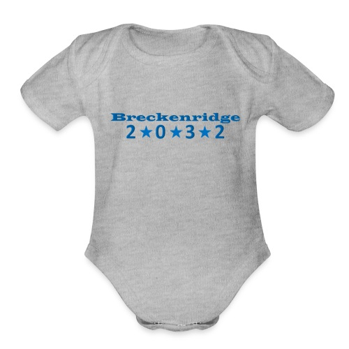 Red 2032 - Organic Short Sleeve Baby Bodysuit