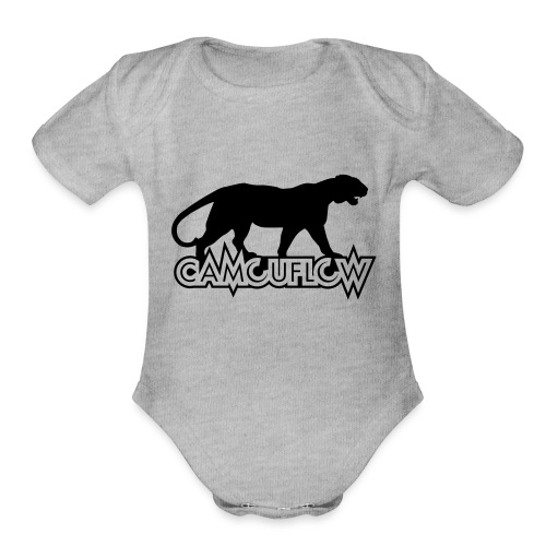 Camouflow Panther Logo - Organic Short Sleeve Baby Bodysuit