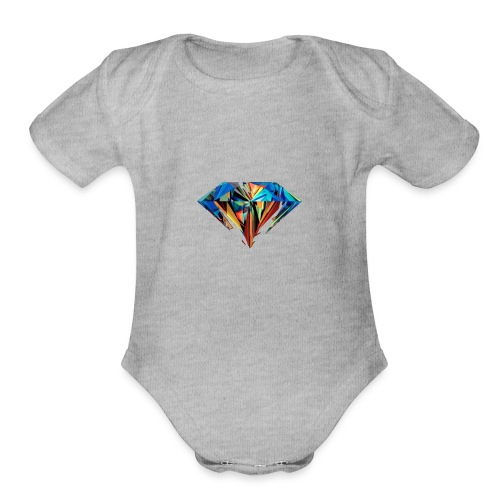 The Diamond - Organic Short Sleeve Baby Bodysuit
